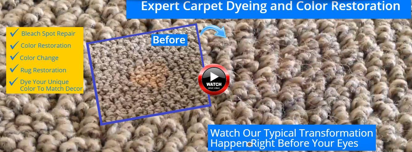 Expert Carpet Dyeing Los Angeles